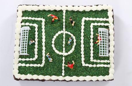 עוגת גן - מגרש כדורגל (ניתן להוסיף כיתוב)