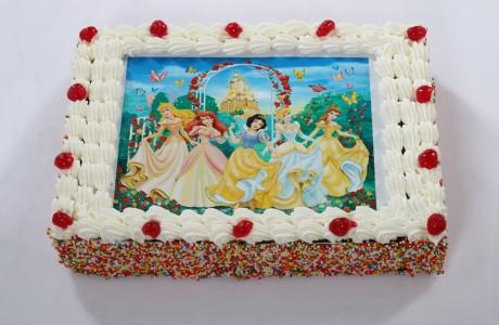 עוגת גן עם תמונה אכילה (ניתן להוסיף כיתוב בתמונה)